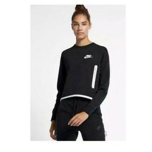 Nike Pullover Cropped Sweatshirt Size L New 3772